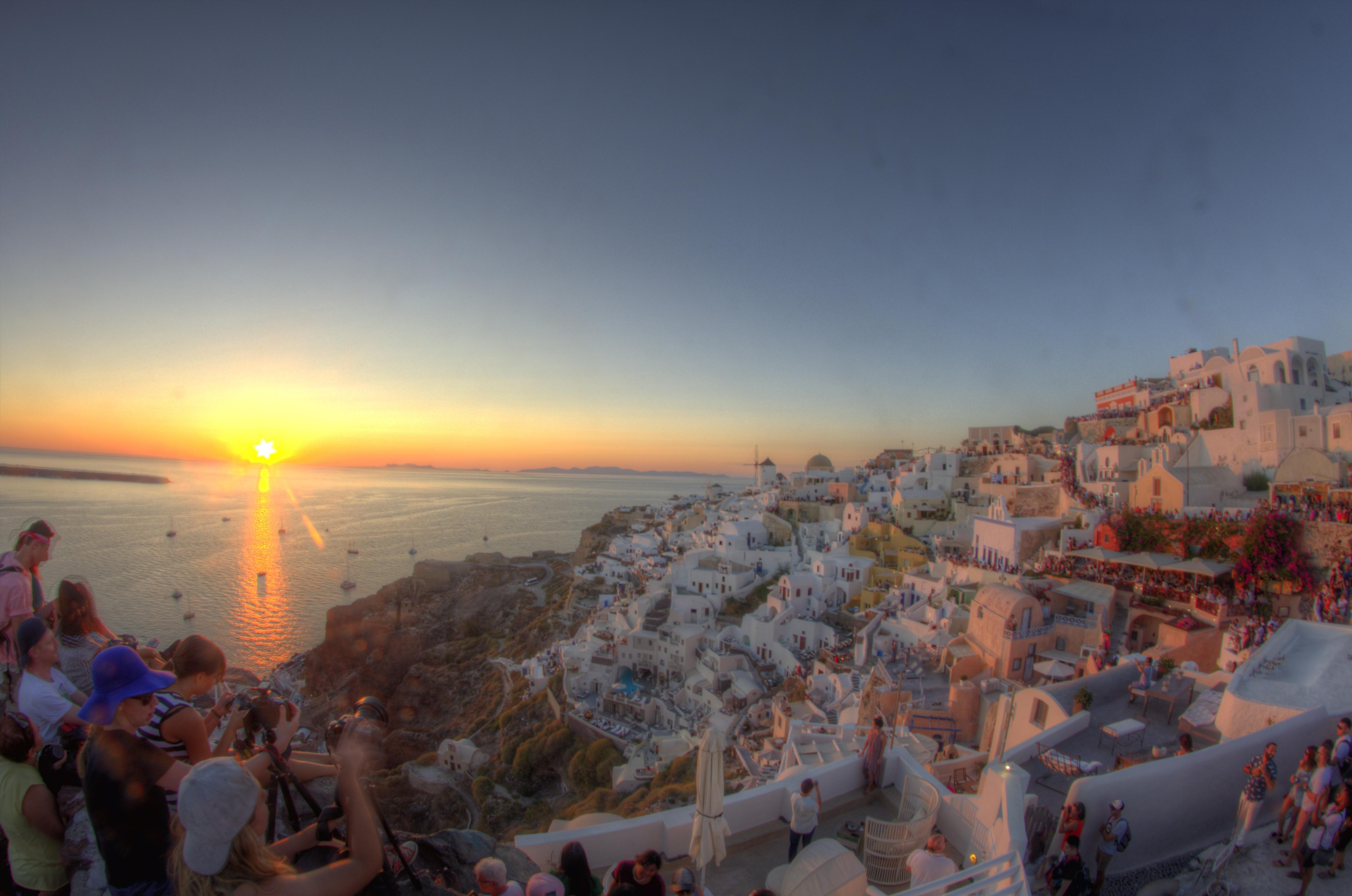 por do sol mais lindo do mundo grecia