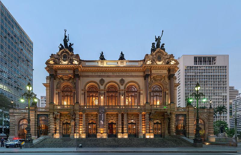 teatro municipal fachada - passeio cultural sp